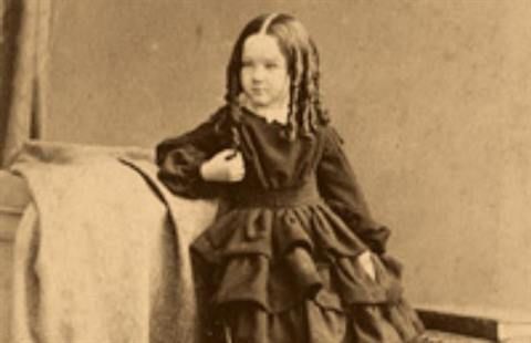 J Stuart Photographer Scotland Small girl with ringlets c1870s