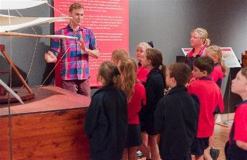 School participating in a tour at Rockhampton Art Gallery
