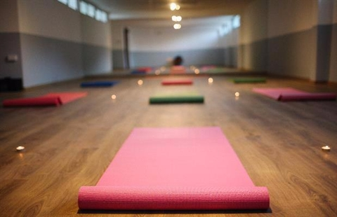 Yoga in the Rockhampton Art Gallery