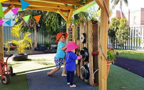 City Child Care Centre outdoor area