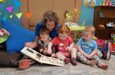 Reading at City Child Care Centre