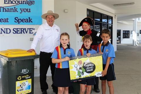 Councillor Latcham and Recycling Pirate Kelly with students Mia Mutch, Harlan Locke and Aiden Jennings.jpg