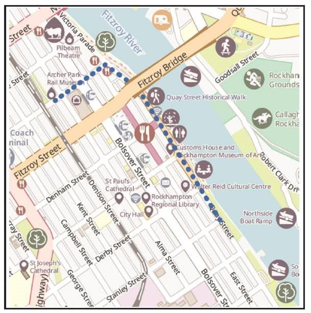 Anzac Day 2021 March Map