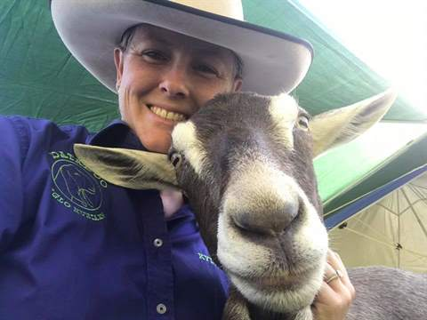 Kylie Hopkins and Eclipse from Capricorn Goat Breeders. Kylie will be attending the 2020 Landholders Expo as a presenter and stall holder..jpg