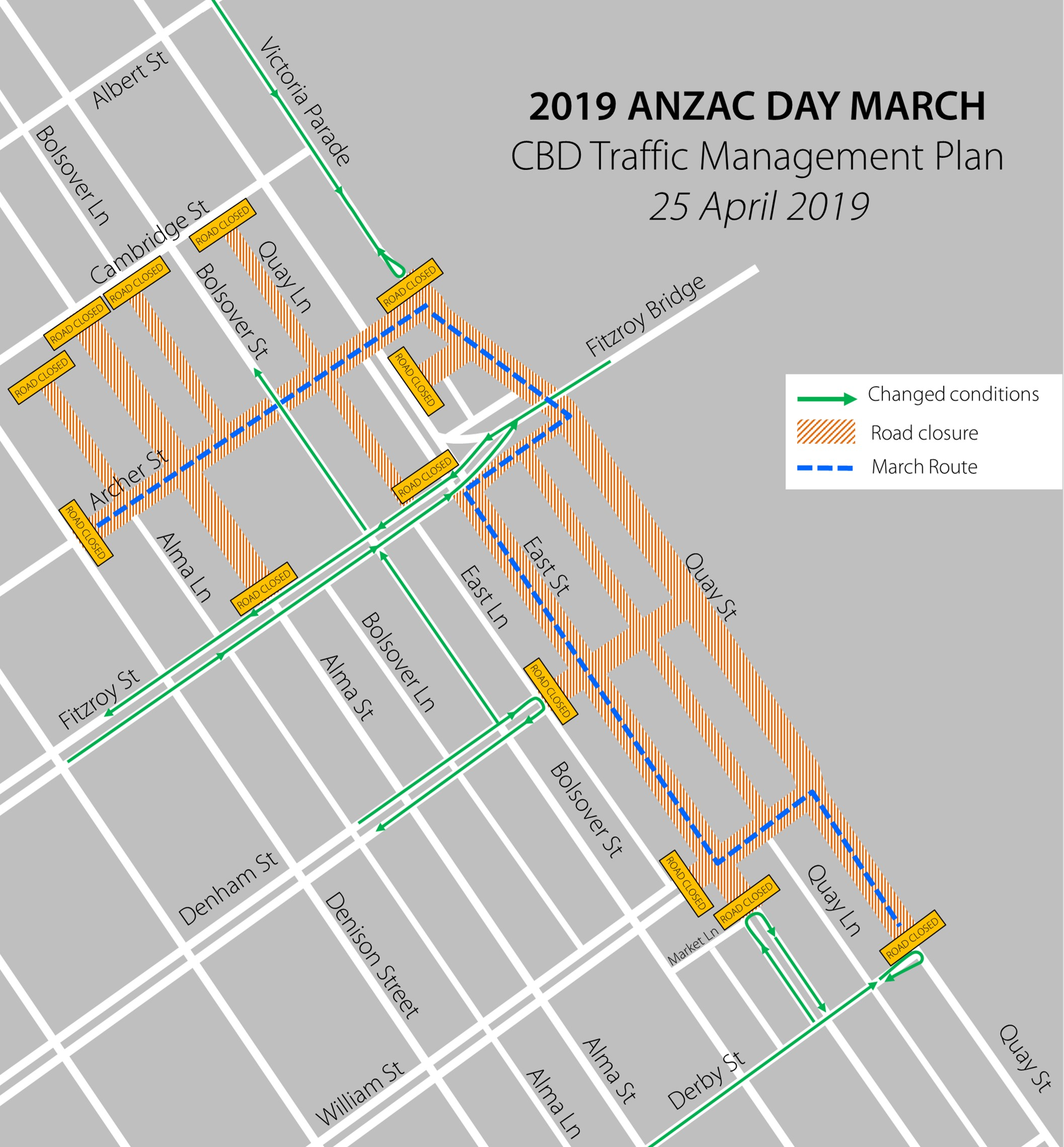 2019 ANZAC Day Civic Ceremony to be held on Rod Laver Plaza